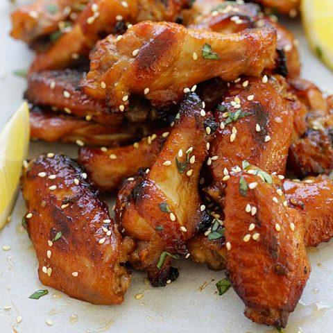 Ailes de poulet au miel et au miso