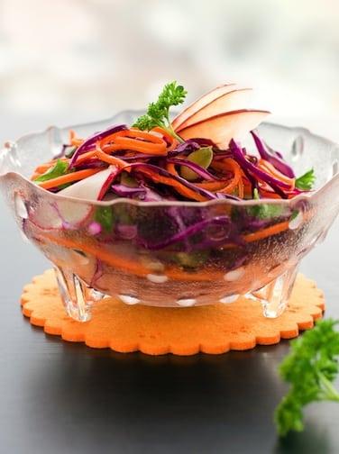 Recette de chou rouge et salade de pommes