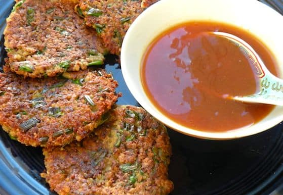 Beignets de quinoa avec sauce au canard