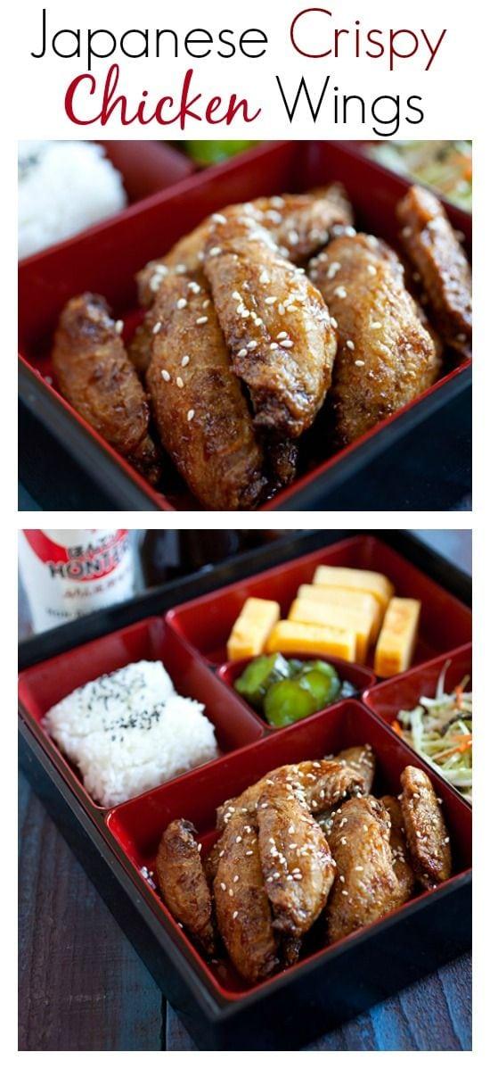 Ailes de poulet croustillantes japonaises - recette facile qui produit les ailes de poulet les plus croustillantes et les meilleures au goût japonais |  rasamalaysia.com