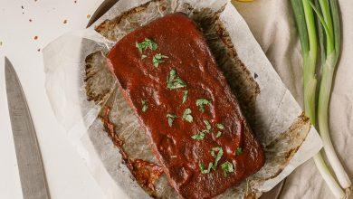 Photo of Pain de viande végétalien aux lentilles avec glaçage aux tomates