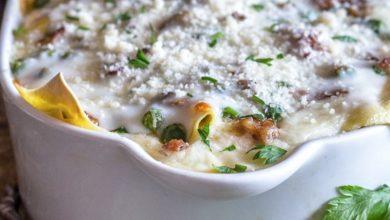 Photo of Lasagne à la sauce blanche crémeuse maison
