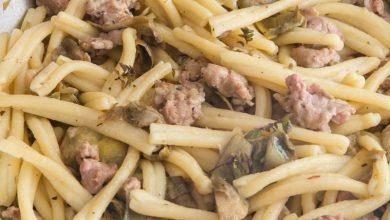 Photo of Pâtes italiennes à l'artichaut et à la saucisse