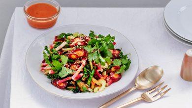 Photo of Salade Suprême Hachée Avec Vinaigrette Kimchi