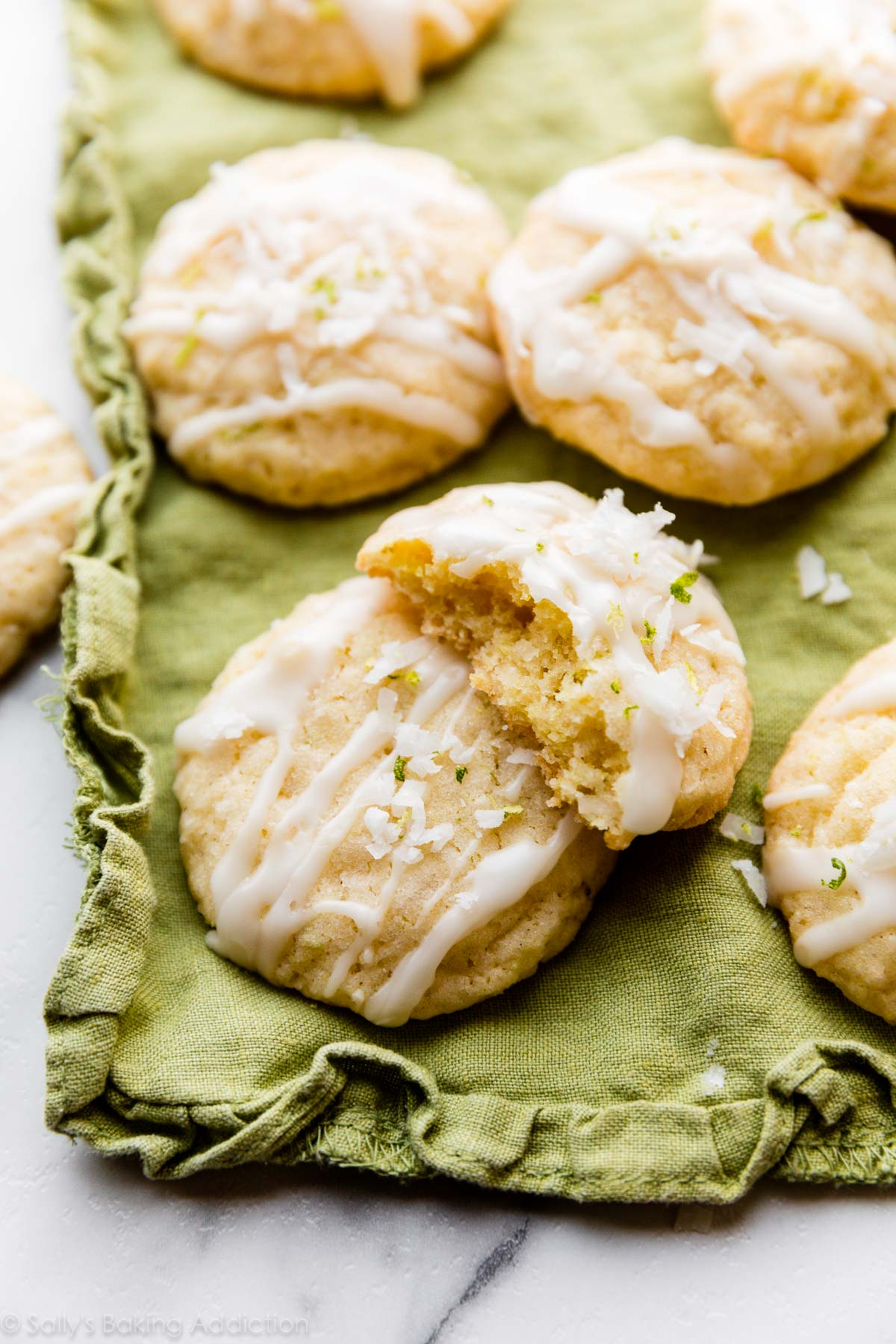biscuits à la noix de coco et à la lime