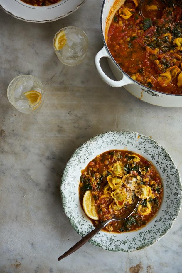 Soupe Tortellini Aux Tomates Au Cari