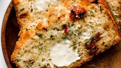 Photo of Pain éclair au fromage Asiago et aux tomates séchées