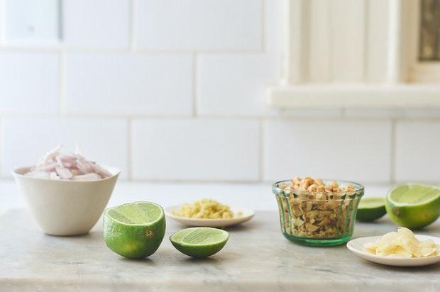 Ingrédients pour la recette de salade d'été Pluot