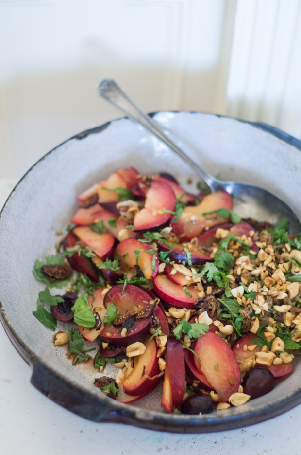 Recette de salade d'été Pluot