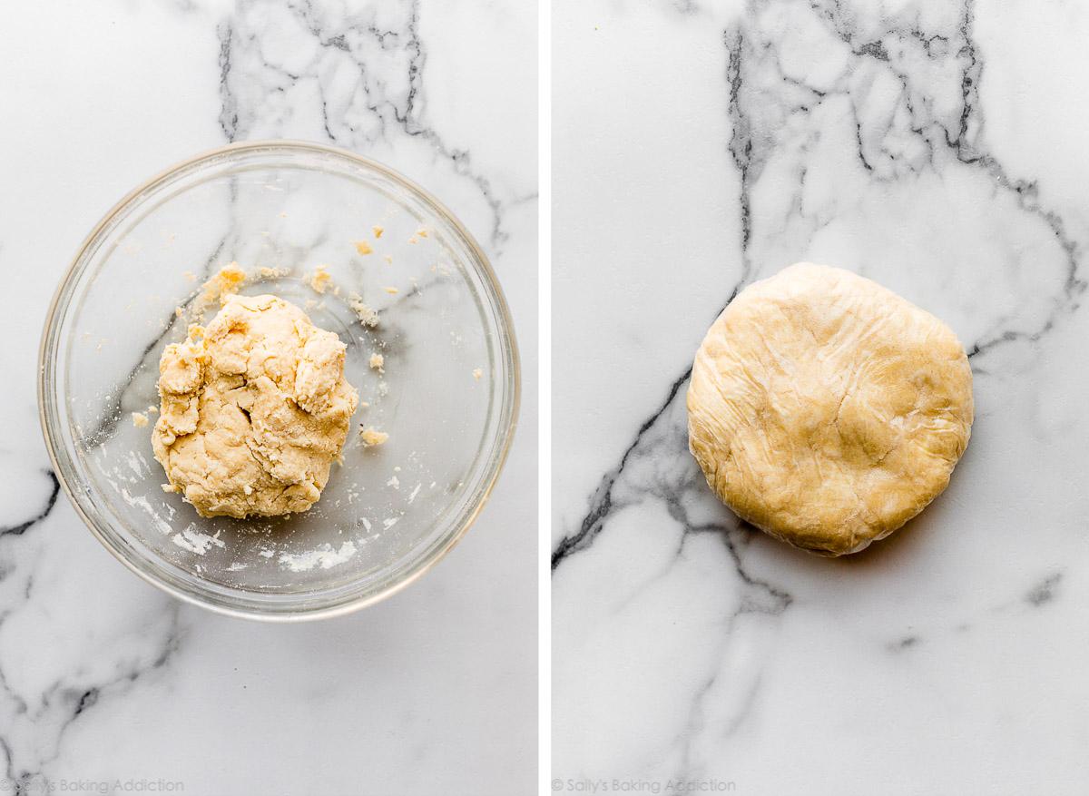 pâte à galette avant réfrigération