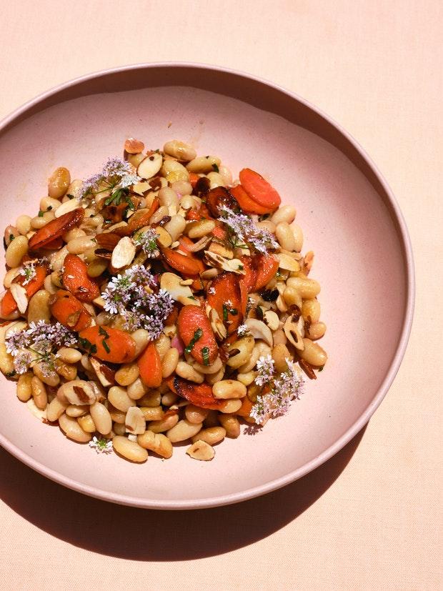 Recette de salade de carottes, aneth et haricots blancs