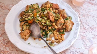 Photo of Salade de courgettes grillées et pain