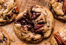 Photo of Biscuits au chocolat noir et pacanes (avec beurre brun)