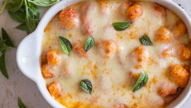 Photo of https://anitalianinmykitchen.com/baked-gnocchi-with-double-cheese-tomato-sauce/